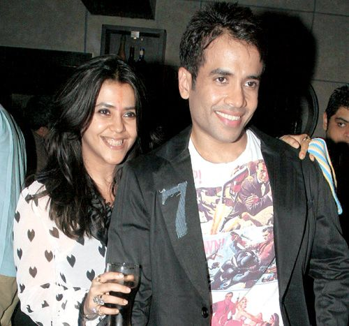 Ekta Kapoor and Tusshar Kapoor Bollywood Siblings