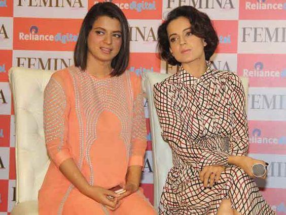 Kangana Ranaut and Rangoli Ranaut Sisters