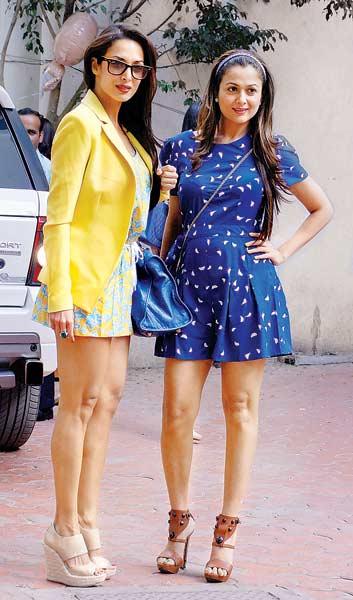Malaika Khan and Amrita Arora Bollywood Sisters Celebs