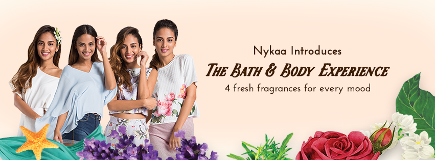 Nykaa bath & body range