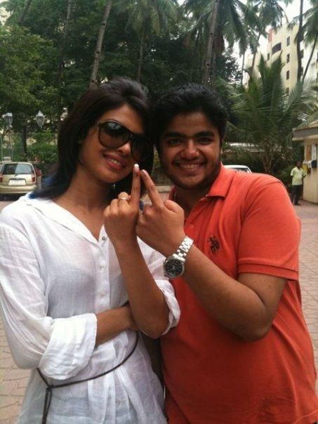 Pc with her brother Sid Chopra