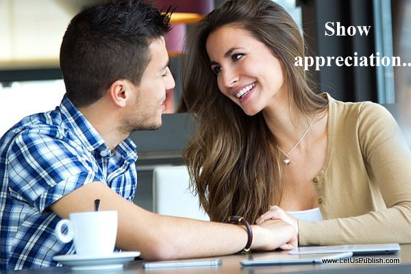 Couple in CoffeeShop Romantic Quote Picture