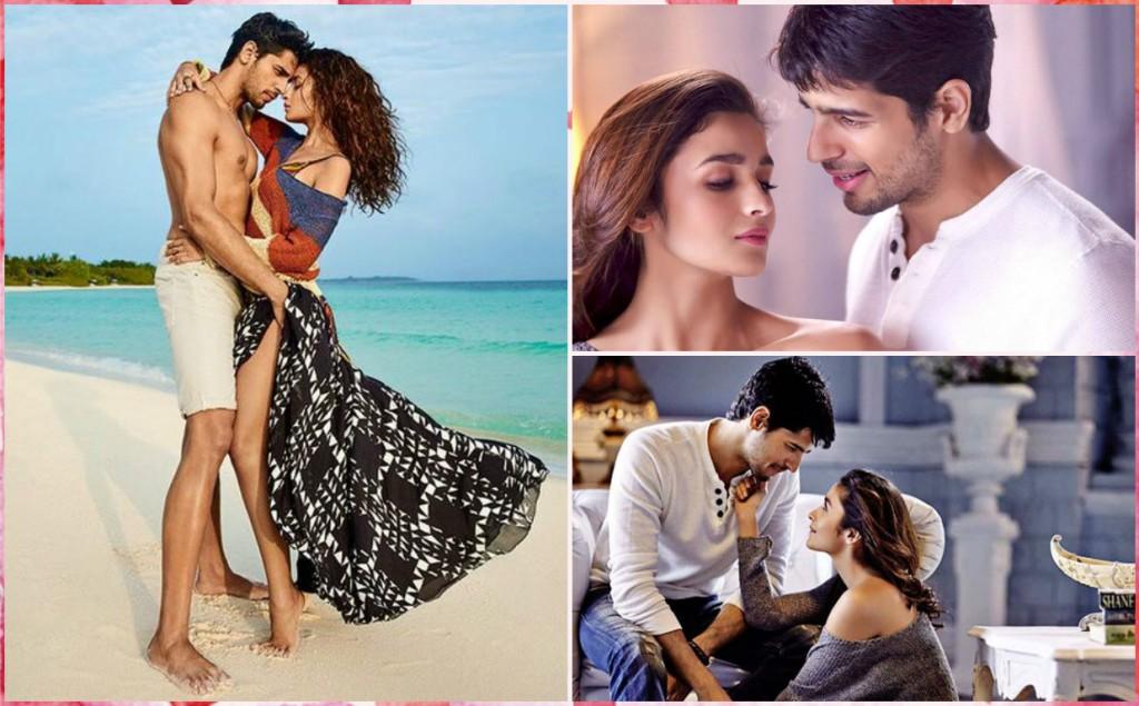 Alia Bhatt and Sidharth Malhotra Romance Pics
