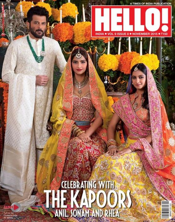 Sonam and Rhea Kapoor with Father Anil Kapoor