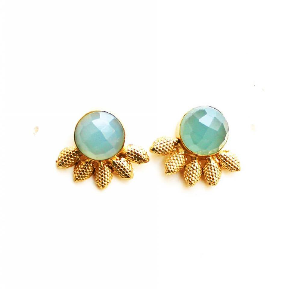 Studd Earings latest design in Gold from Gharaz