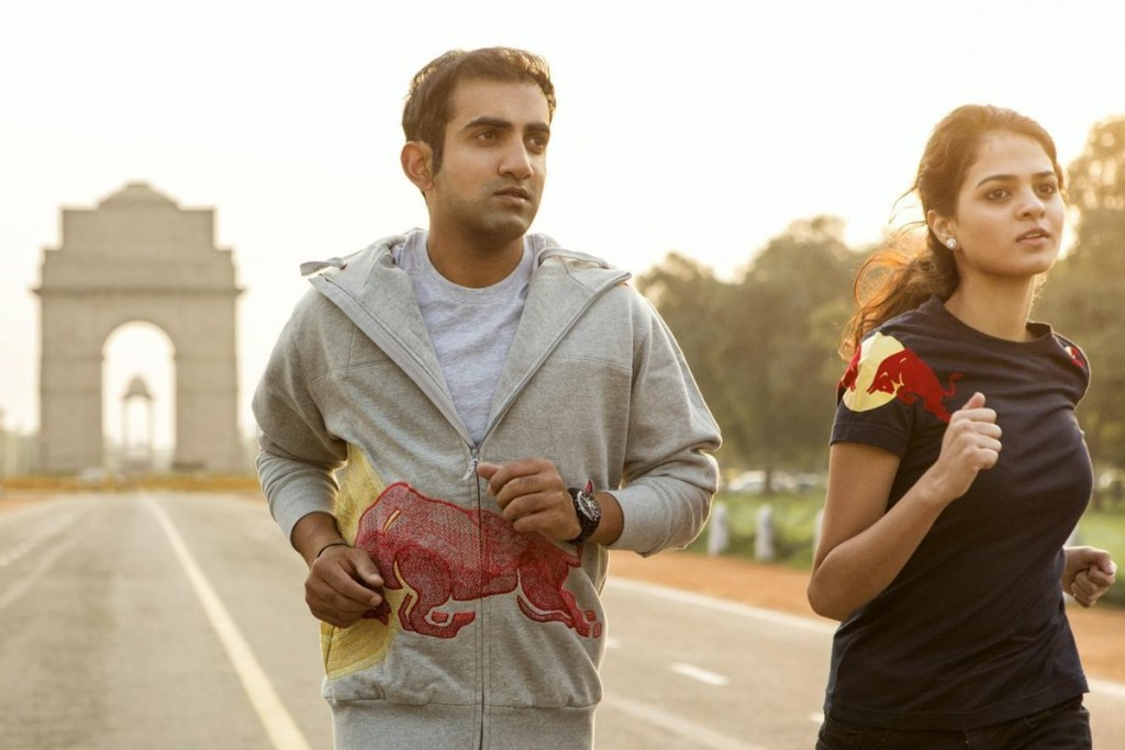 Wings for Life World Run Ambassadors Gautam Gambhir and Tania Sachdev run in Delhi, India on November 1st, 2013 // Neville Sukhia/Red Bull Content Pool // P-20131230-00045 // Usage for editorial use only // Please go to www.redbullcontentpool.com for further information. //