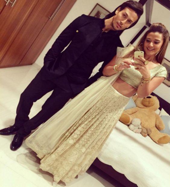 Tiger Shroff with sister Krishna