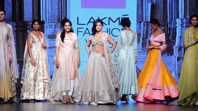 Anushree Reddy collection at LFW 2016