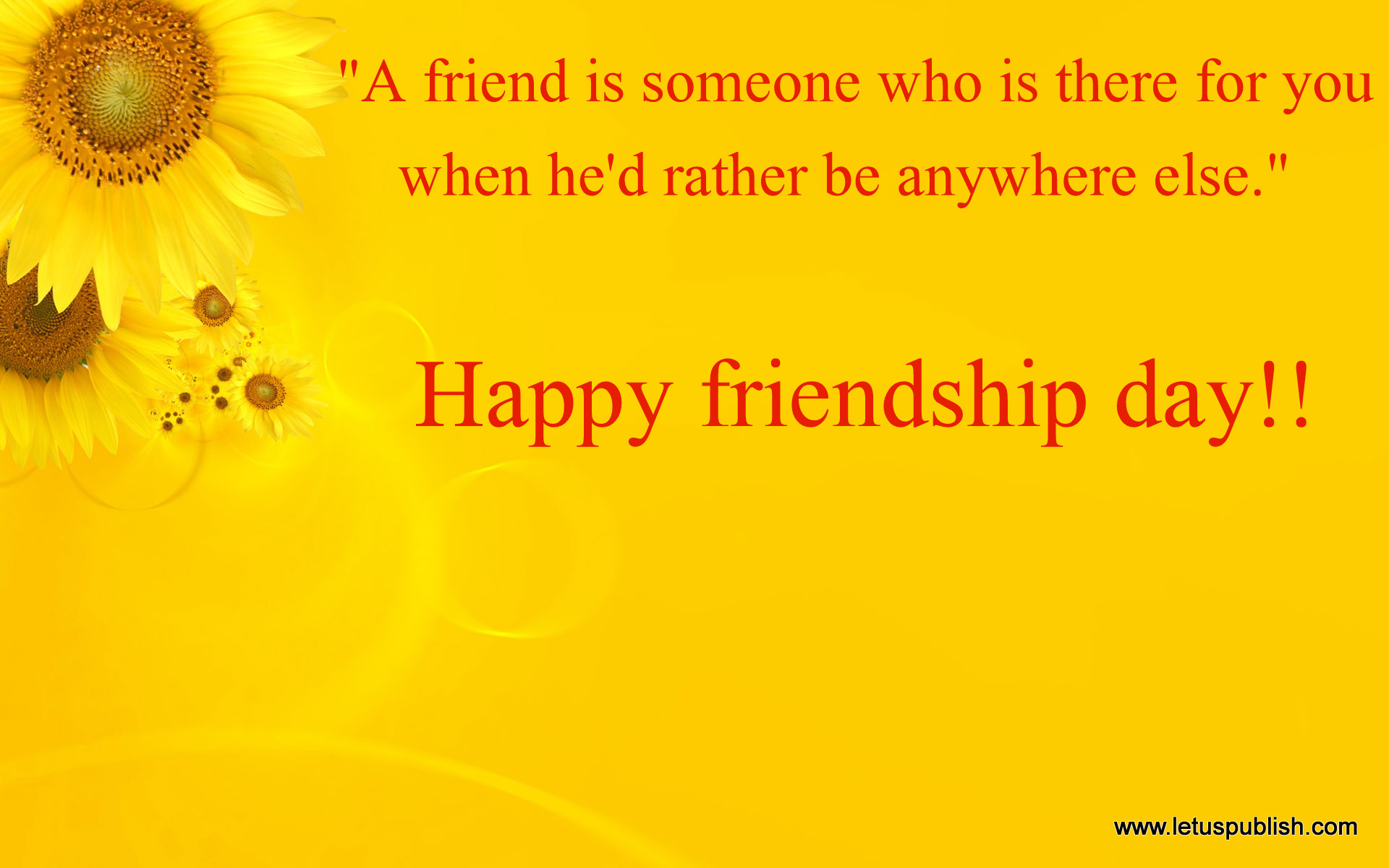 Happy friendship day best hd wallpaper with quotes