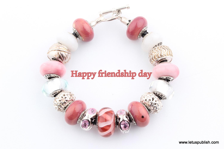 Happy friendship day bracelet wallpaper