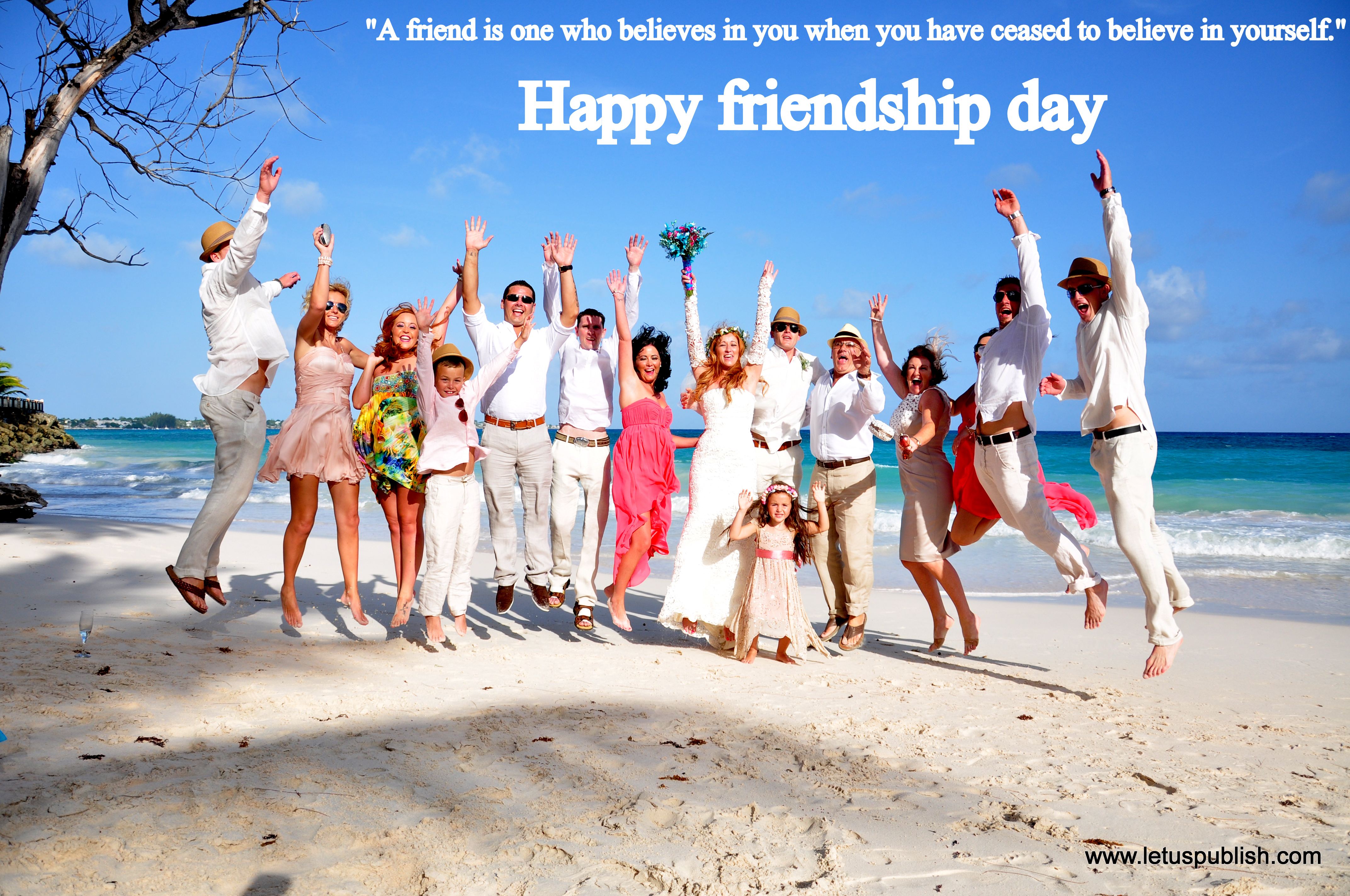 Happy friendship day free download beach wallpaper