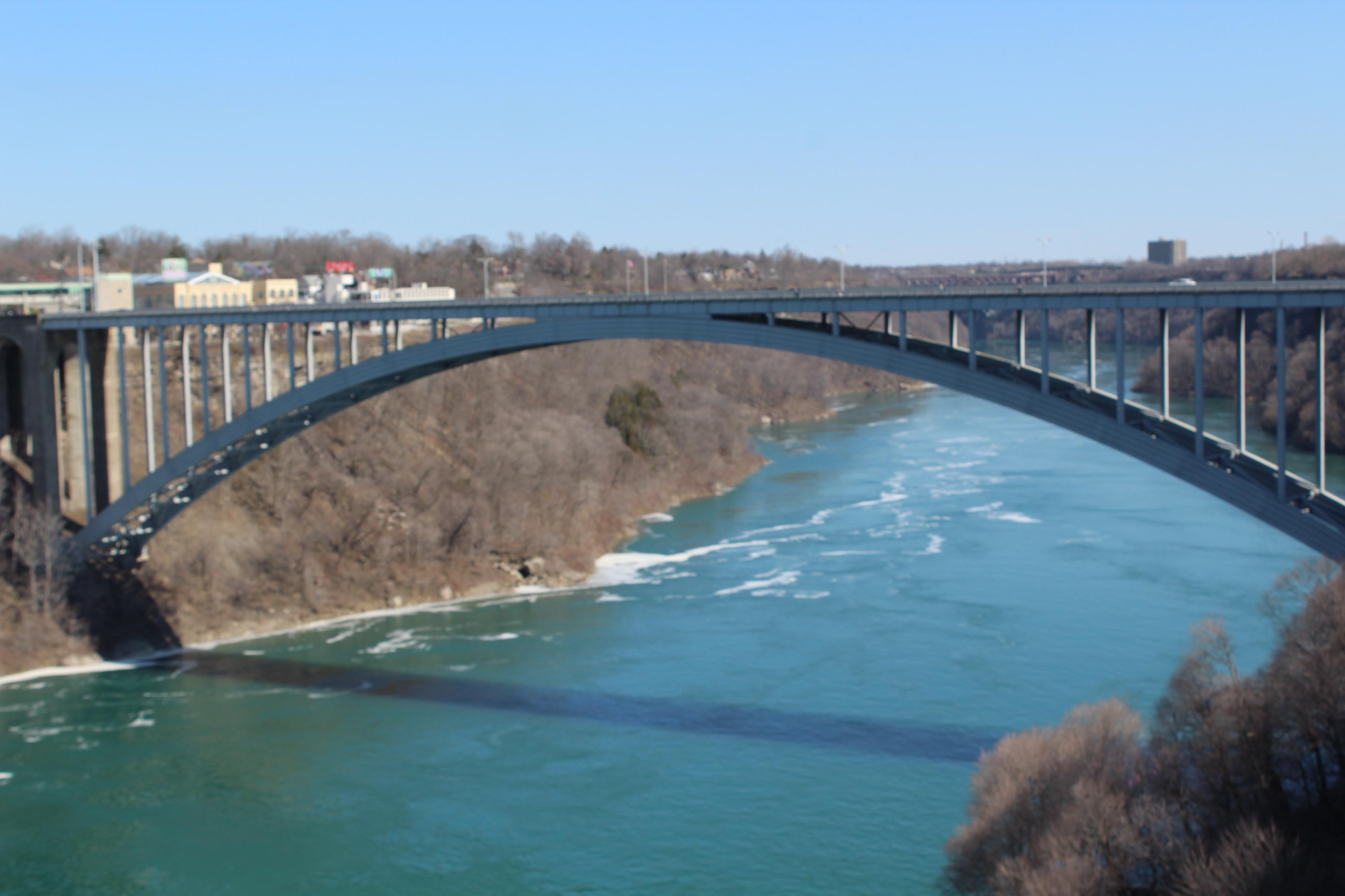 Rainbow Bridge at the Niagara Falls