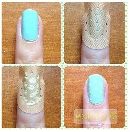 Nail art using bandage