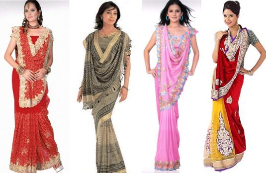 Rajrani Style Saree Drape