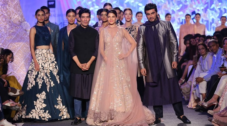 Showstoppers Arjun Kapoor and Jacqueline Fernandez with Manish Malhotra