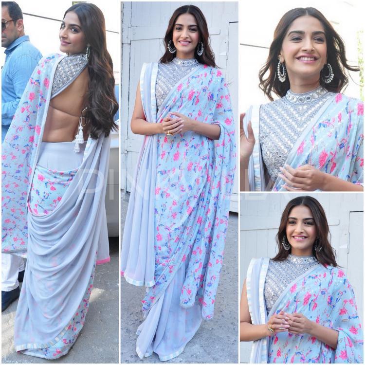 Sonam Kapoor in Double Pallu Saree Style