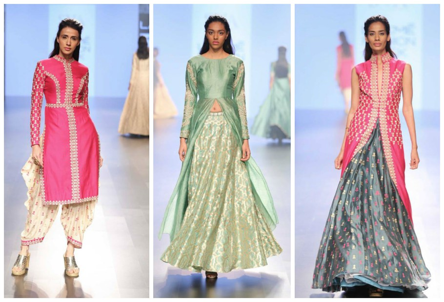 Sonam and Paras collection at LFW 2016