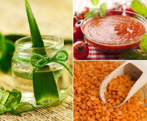Aloe-Vera-Masoor-Daal- tomato suntan removal pack