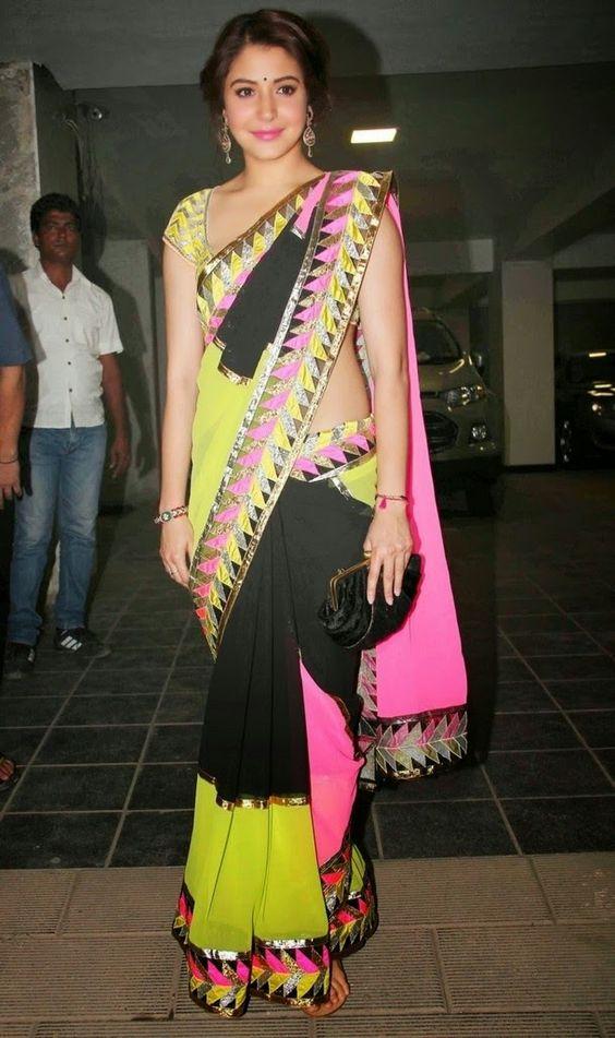 Anushka Sharma in saree - Ruler Body shape