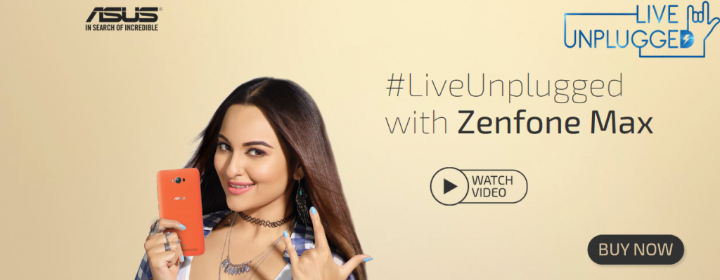 Sonakshi Sinha launched Asus Zenfone Max