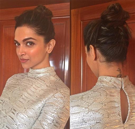 Deepika Padukone's top knot hairstyle