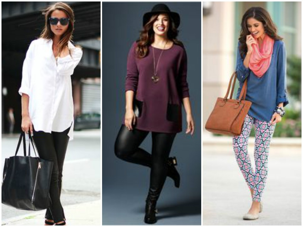 Leggings and tunics to hide belly fat