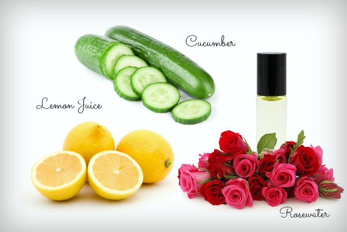 Lemon-Juice-With-Cucumber-And-Rose-Water suntan removal pack