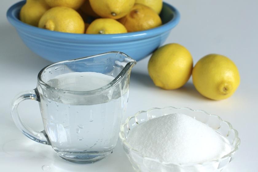 Lemon and sugar suntan removal pack