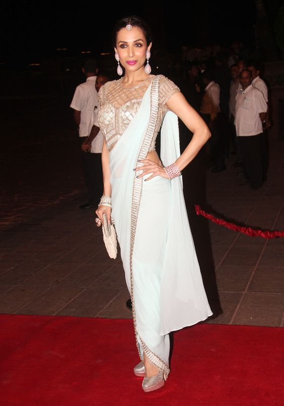 Malaika Arora in Saree - Pear shape body