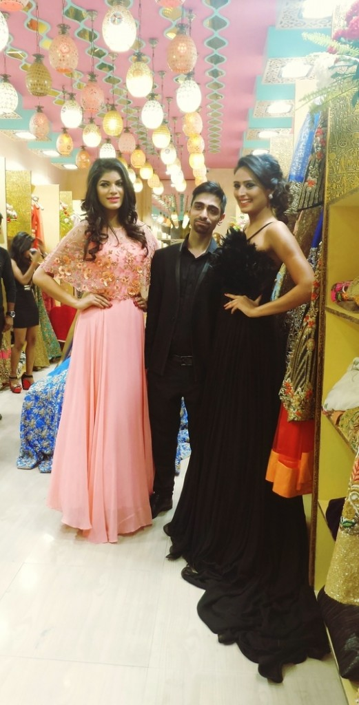 Models Kanchan Tomar and Rupa Khurana at Miraaz launch
