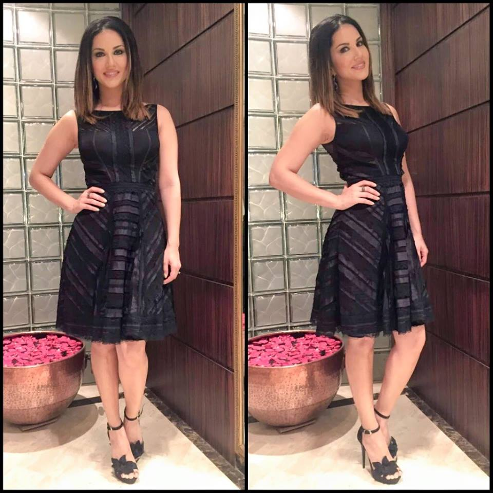 Sunny leone in Little black Dress Pictures - Inside pictures
