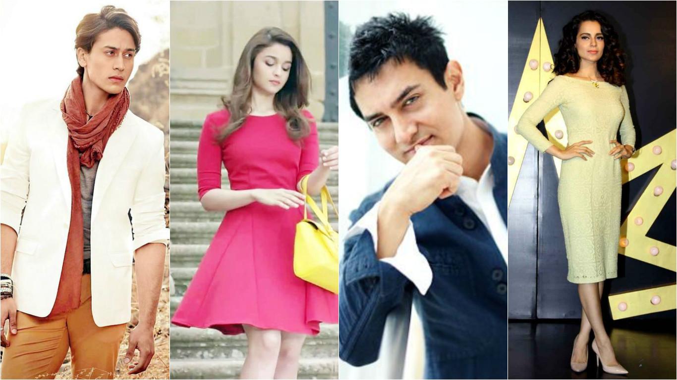 Aamir Khan, Tiger Shroff, Alia Bhatt,Kangana Ranaut