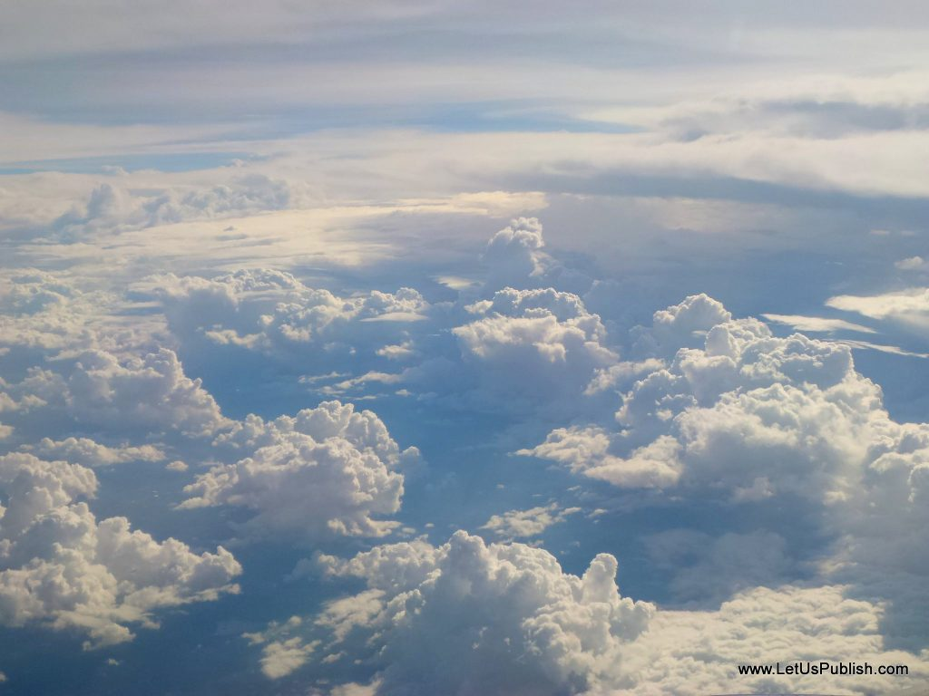 Black clouds clicked from Aeroplane , Travel Pics