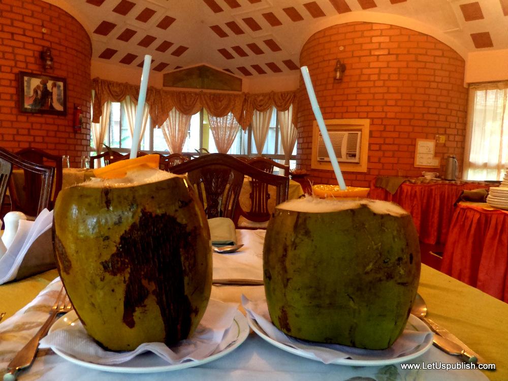 Coconut Water treat at Kairali