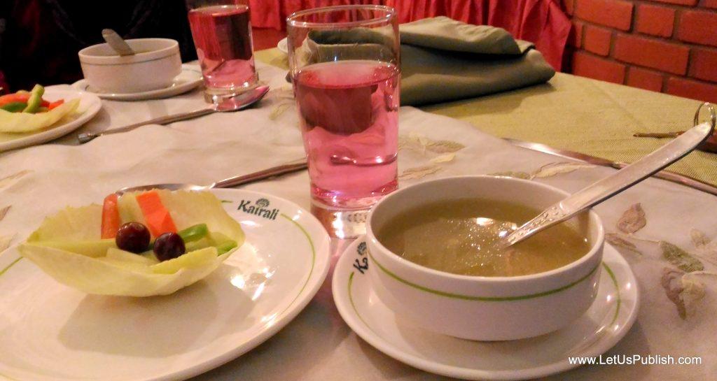 Healthy food at Kairali Reosrt