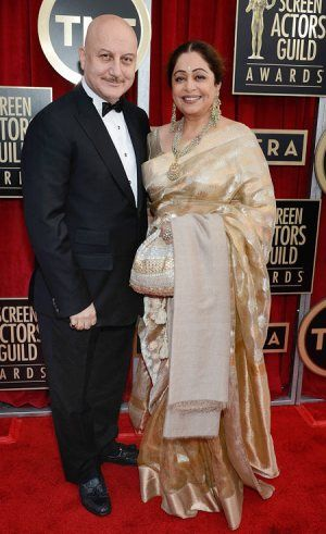 Real life cuple of Bollywood Anupan Kher and Kiron Kher