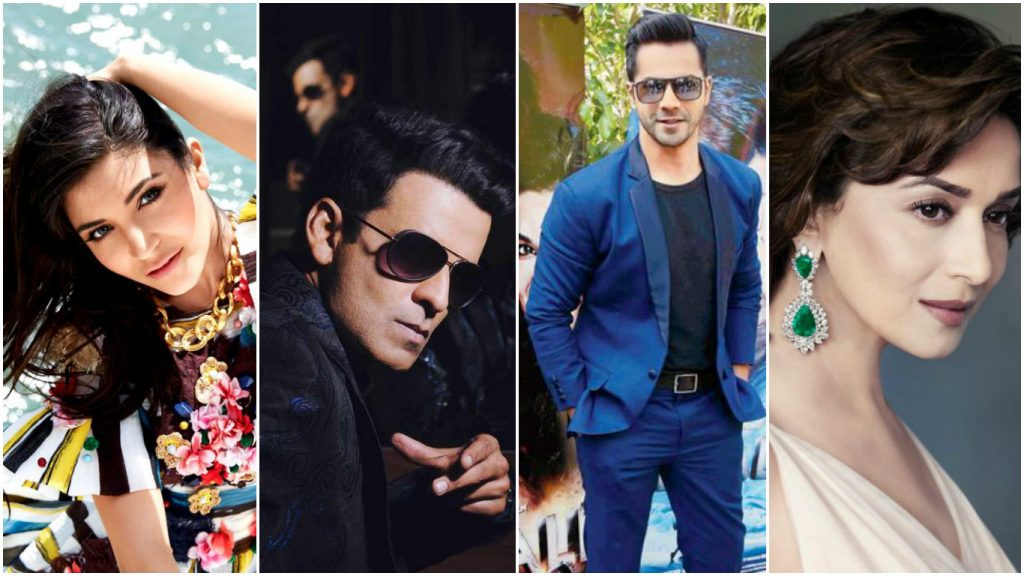 Taurus Bollywood Stars Varun Dhawan,, Manoj Bajpayee , Madhuri Dixit, Sunny Leone