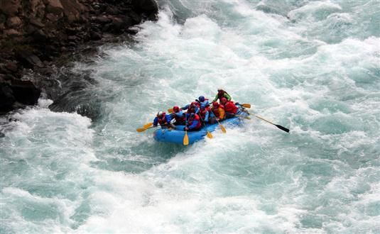 Whitewater Rafting tour with Antilog Vacations at Pahalgam Kashmir