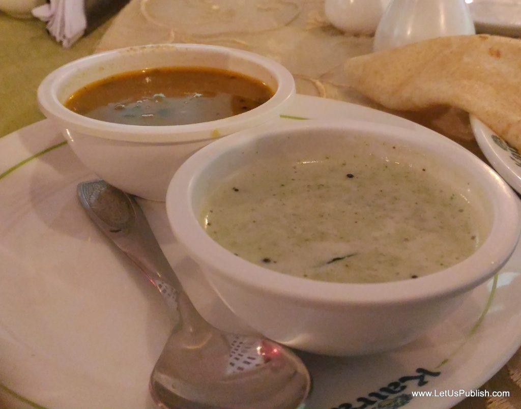 Yummy and healthy Dosa Chatnis from Kairali Food Menu