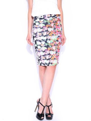 Arrow-Woman-Multicoloured-Printed-Pencil-Skirt - Fashion Essentials from Arrow
