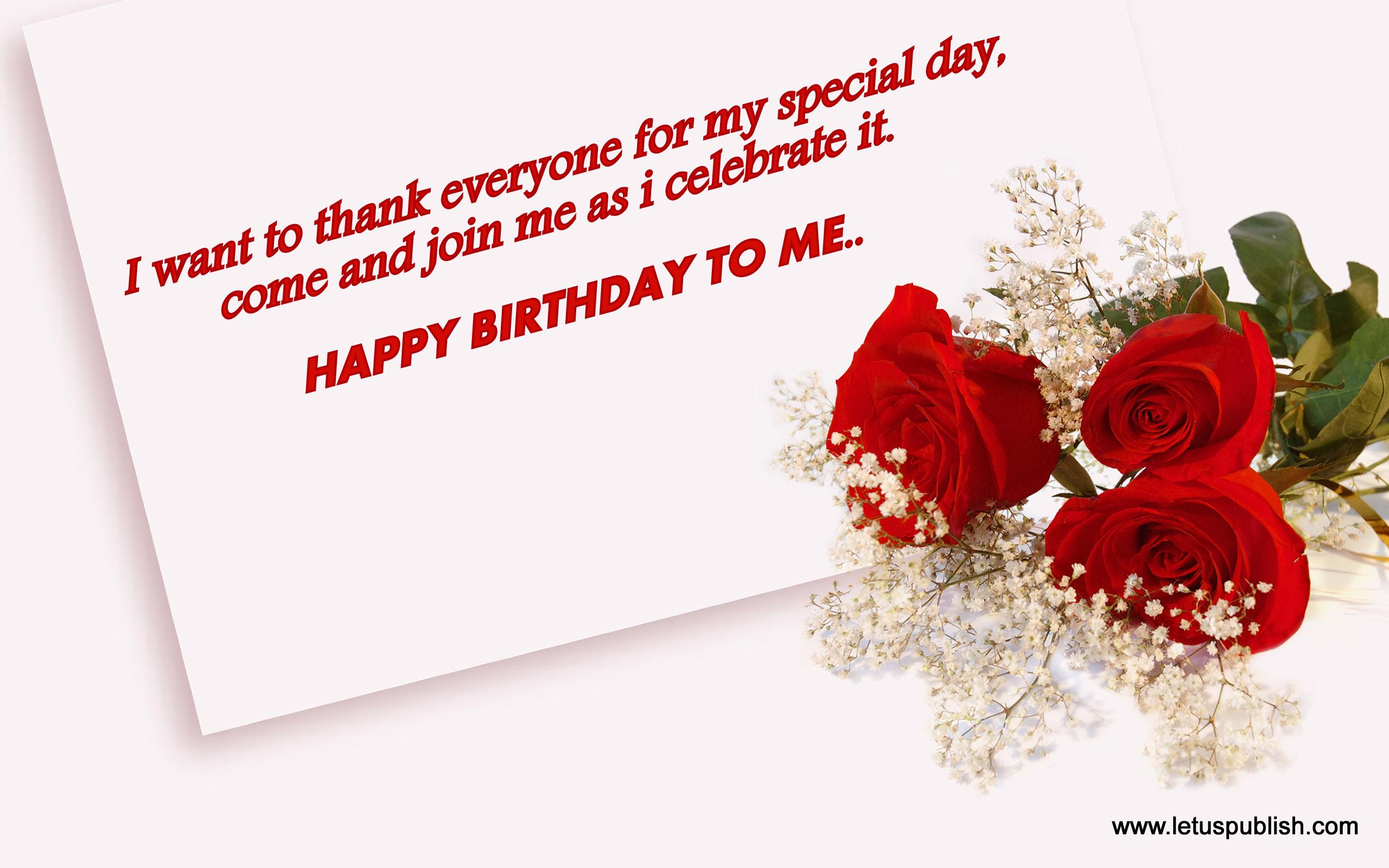 Happy birthday to me wish