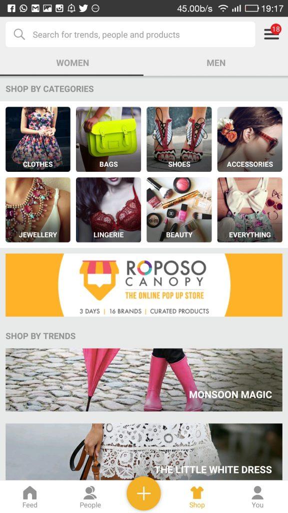 Roposo shop of latest fashion