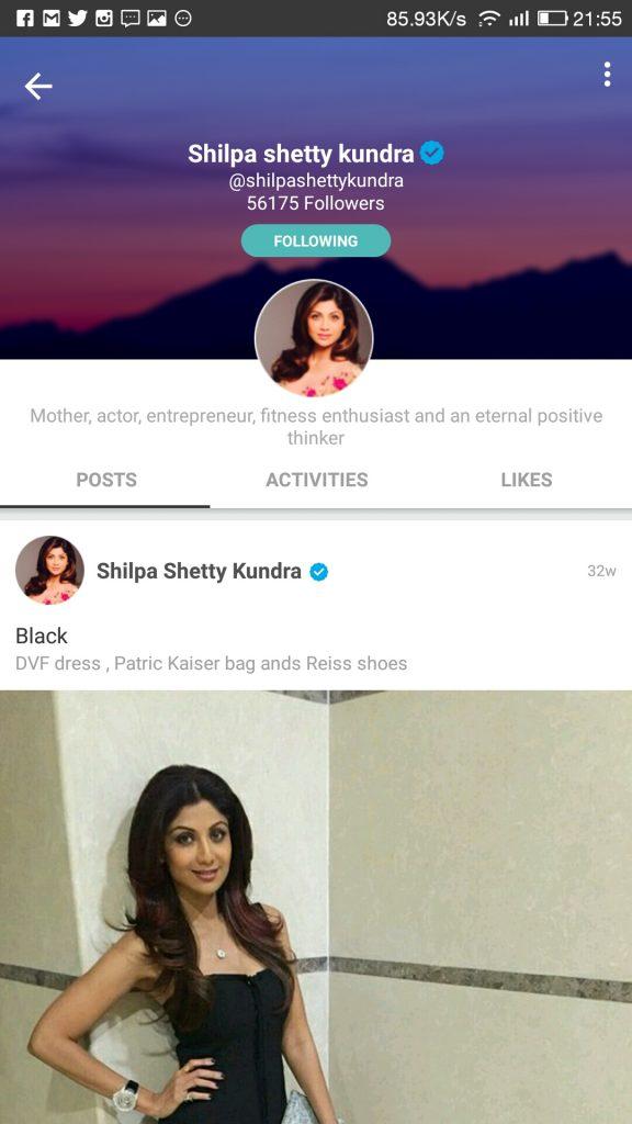 Shilpa Sheerry my Fab actress at Roposo