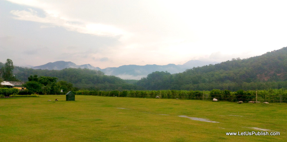 View from Namah Resort Jim Corbett