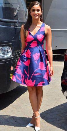 Alia Bhatt fashion look in dress