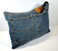 DIY denim cushion cover
