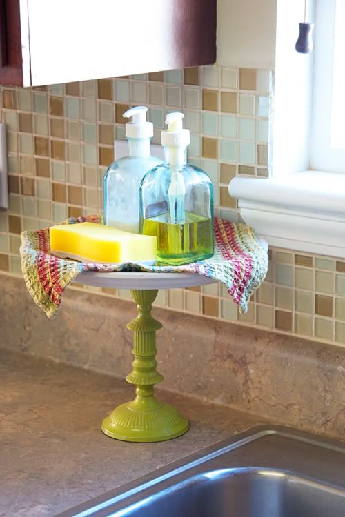 DIY dish soap holder