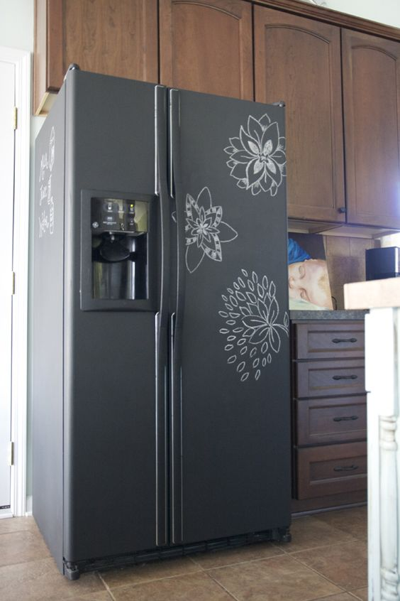 DIY fridge makeover