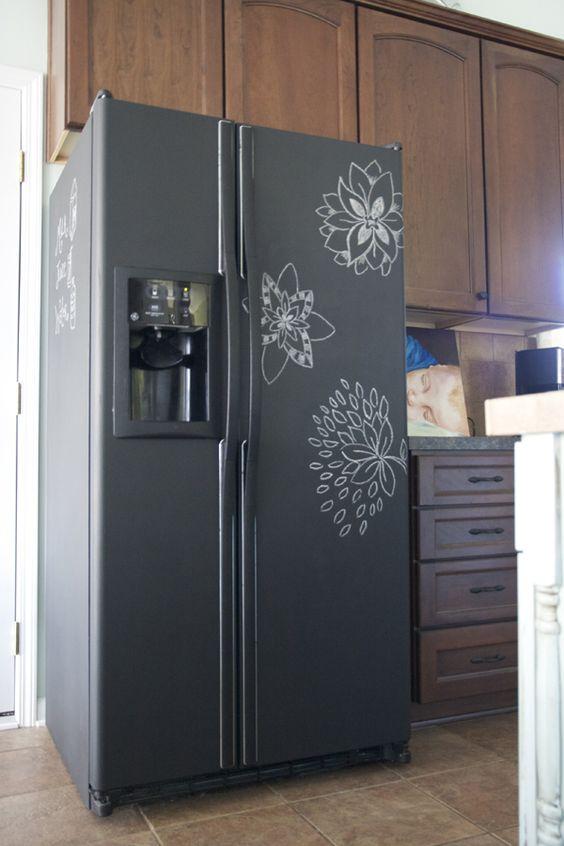 DIY fridge makeover