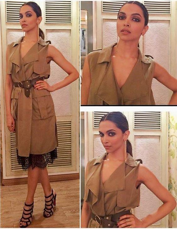 Deepika Padukone khaki look